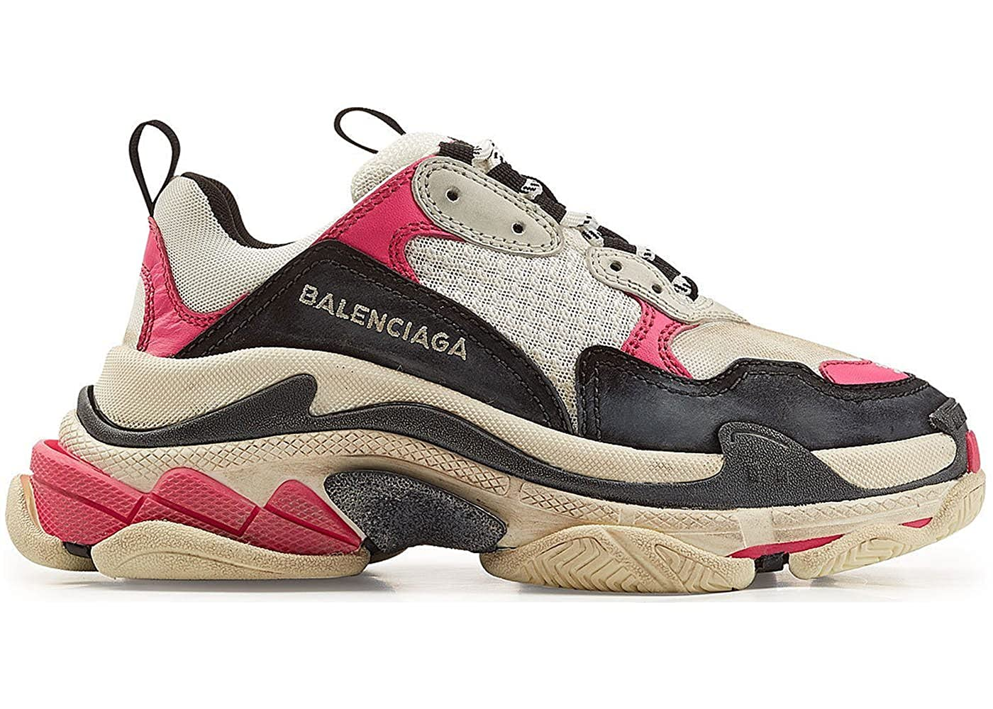 8954dedc850 TOPSHOD Unisex Mens Womens Balenciaga Triple S Sneakers Pink Beige Black   Amazon.co.uk  Shoes   Bags