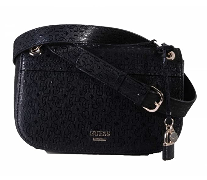 Guess Devyn Shoulder Bag Black: : Vêtements et