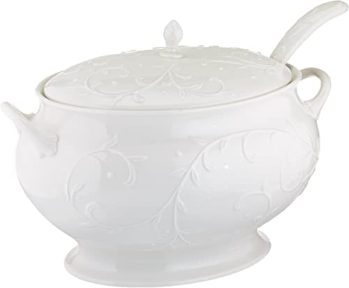 Lenox Opal Innocence Carved Covered Soup Tureen