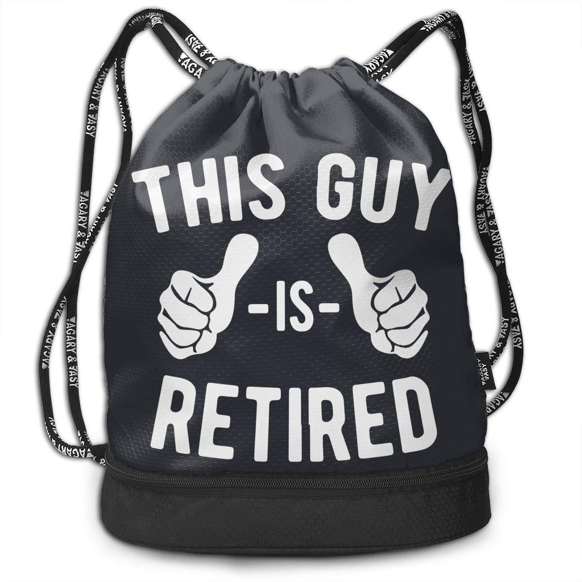 This Guy Is Retired Men//Women Drawstring Backpack Beam Mouth Yoga Sackpack Shoulder Bags
