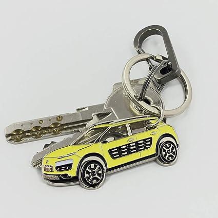Amazon.com: Citroen Cactus Keychain Metal Enamel car ...