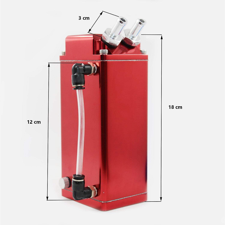 MODAUTO Depósito Aceite de Coche, Decantador de Aceite, Captura de Aceite de Motor, Aluminio Pulido, Cuadrado, Modelo E081RD, Color Rojo: Amazon.es: Coche y ...