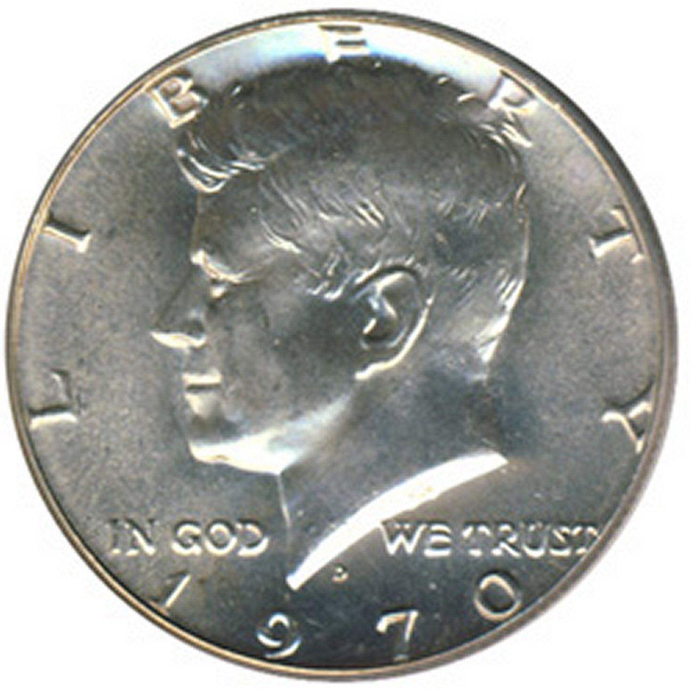 1970-D Kennedy 40/% Silver Half Dollar GEM BU FREE SHIPPING