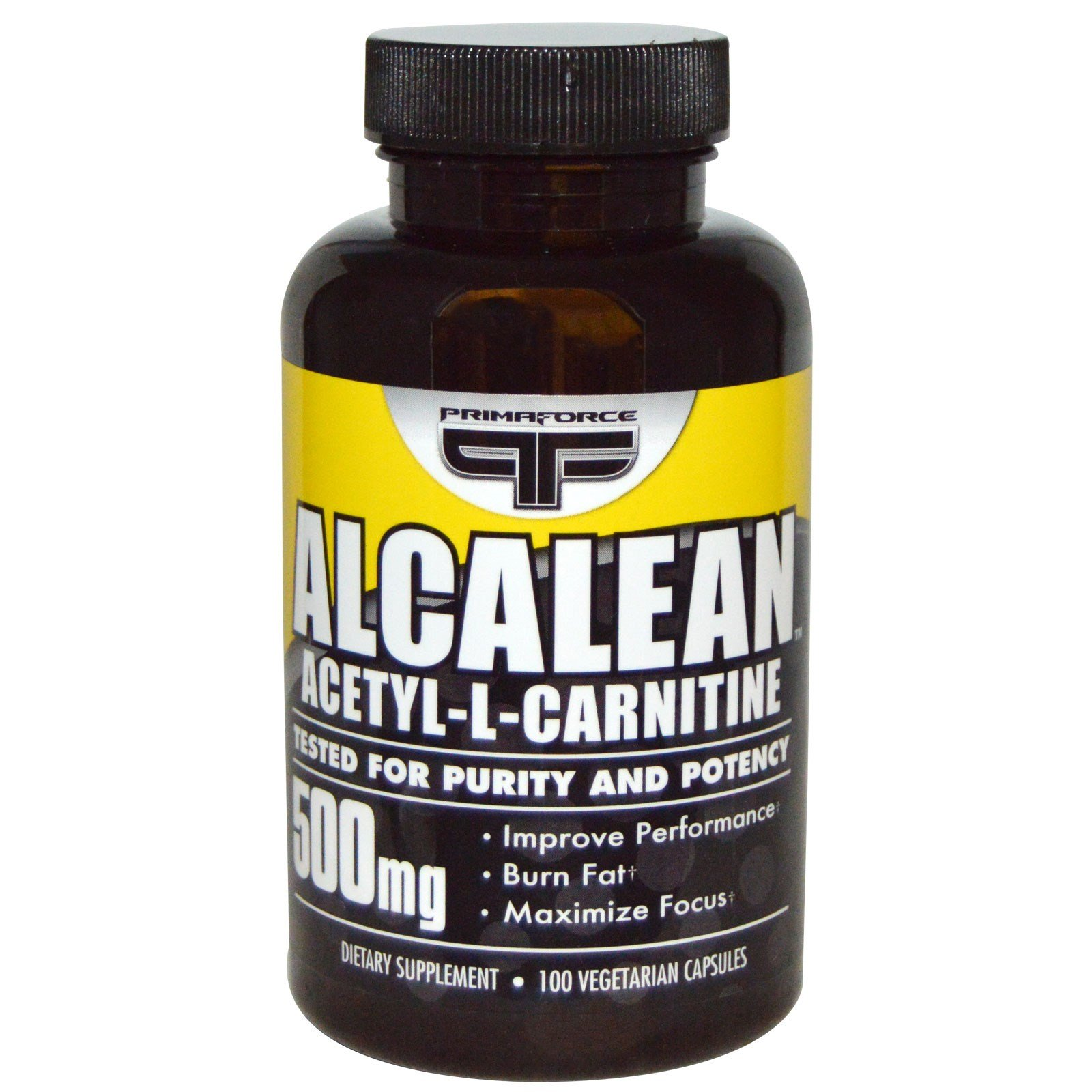 Primaforce, Alcalean, Acetyl-L-Carnitine, 500 mg, 100 Veggie Caps - 3PC