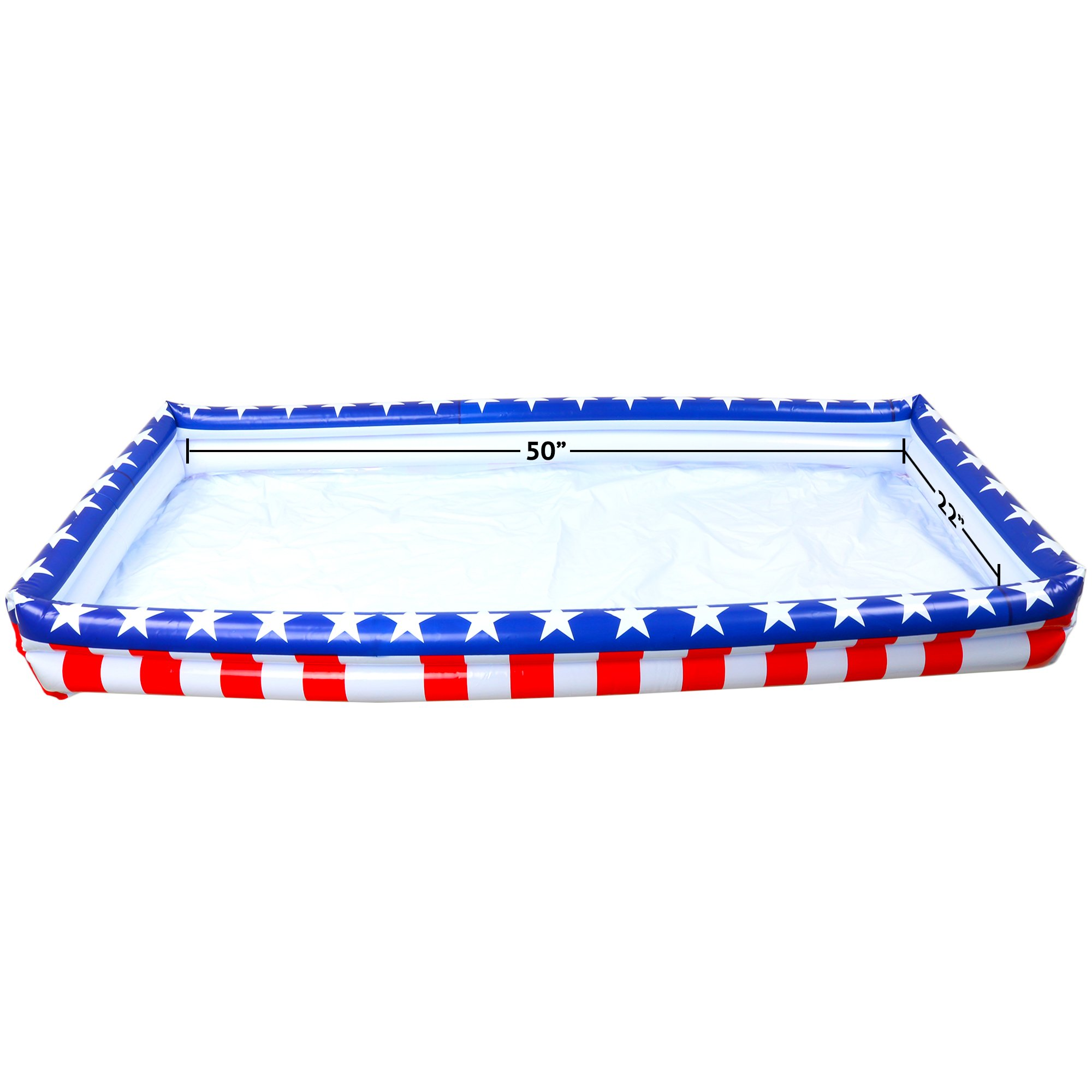 Outdoor Inflatable Buffet Cooler Server - Patriotic Red White and Blue Blow Up Cooling Tub for Serving Buffet Style Picnic - Pack of 2 by Big Mo's Toys (Image #5)