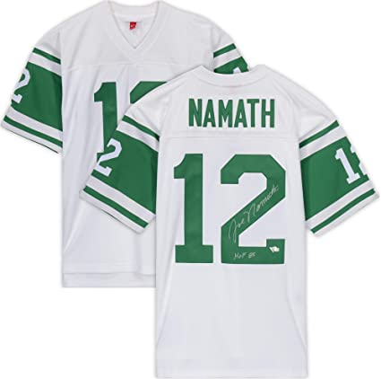 "60d1eafe4 Joe Namath New York Jets Autographed Green Mitchell & Ness Replica Jersey  with""HOF 85"""