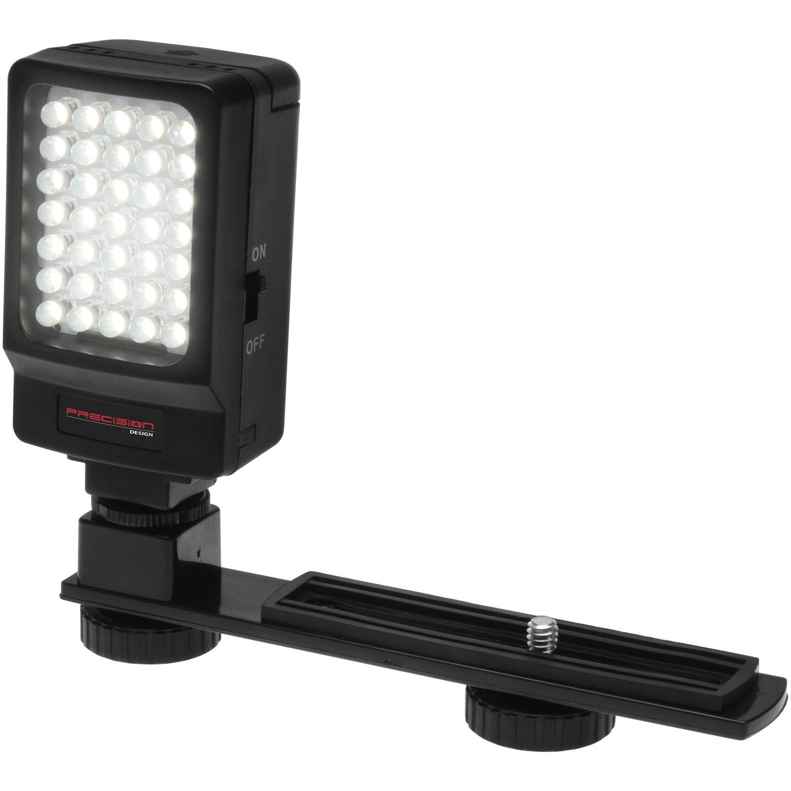 Precision Design Digital Camera / Camcorder LED Video Light with Bracket