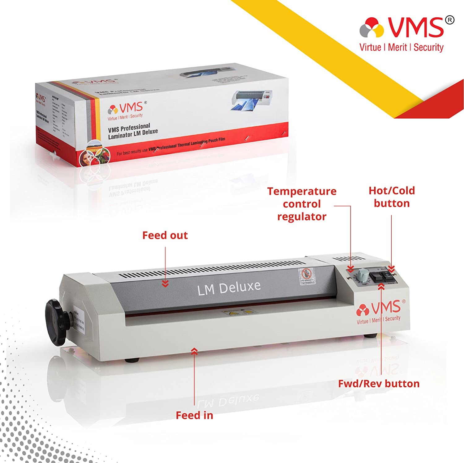 VMS Professional LM Deluxe Lamination / Laminating Machine Hot & Cold A3  Laminator (Photos ID,I-Card,Documents,Certificate)