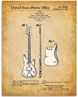 Guitar Collection Set of 3 Patent Prints Fender Gretsch Gibson Decor Art Gift