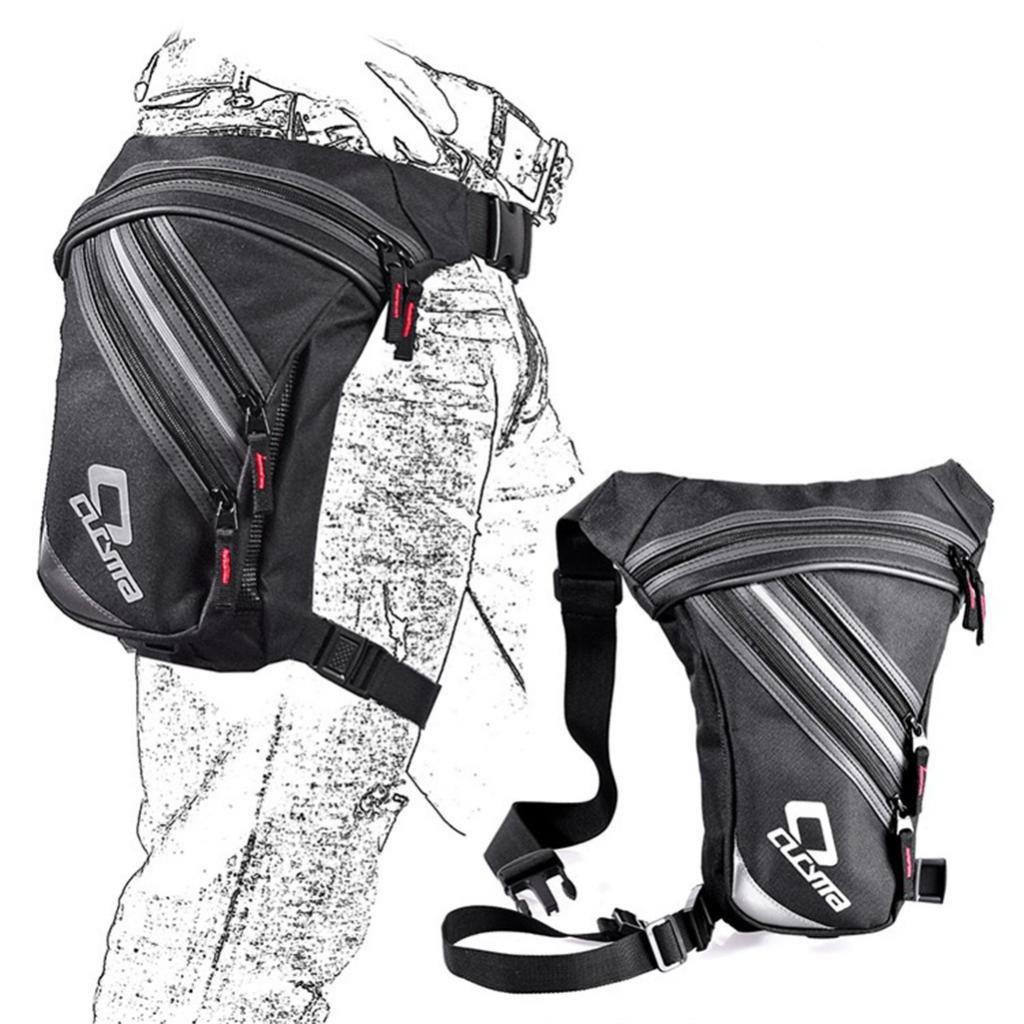KESOTO Hombres Lienzo Riding de Pierna Moto Rider Hip Bolso Cintura Muslo Gota Pierna de Cross Over Bag 7d4c9a