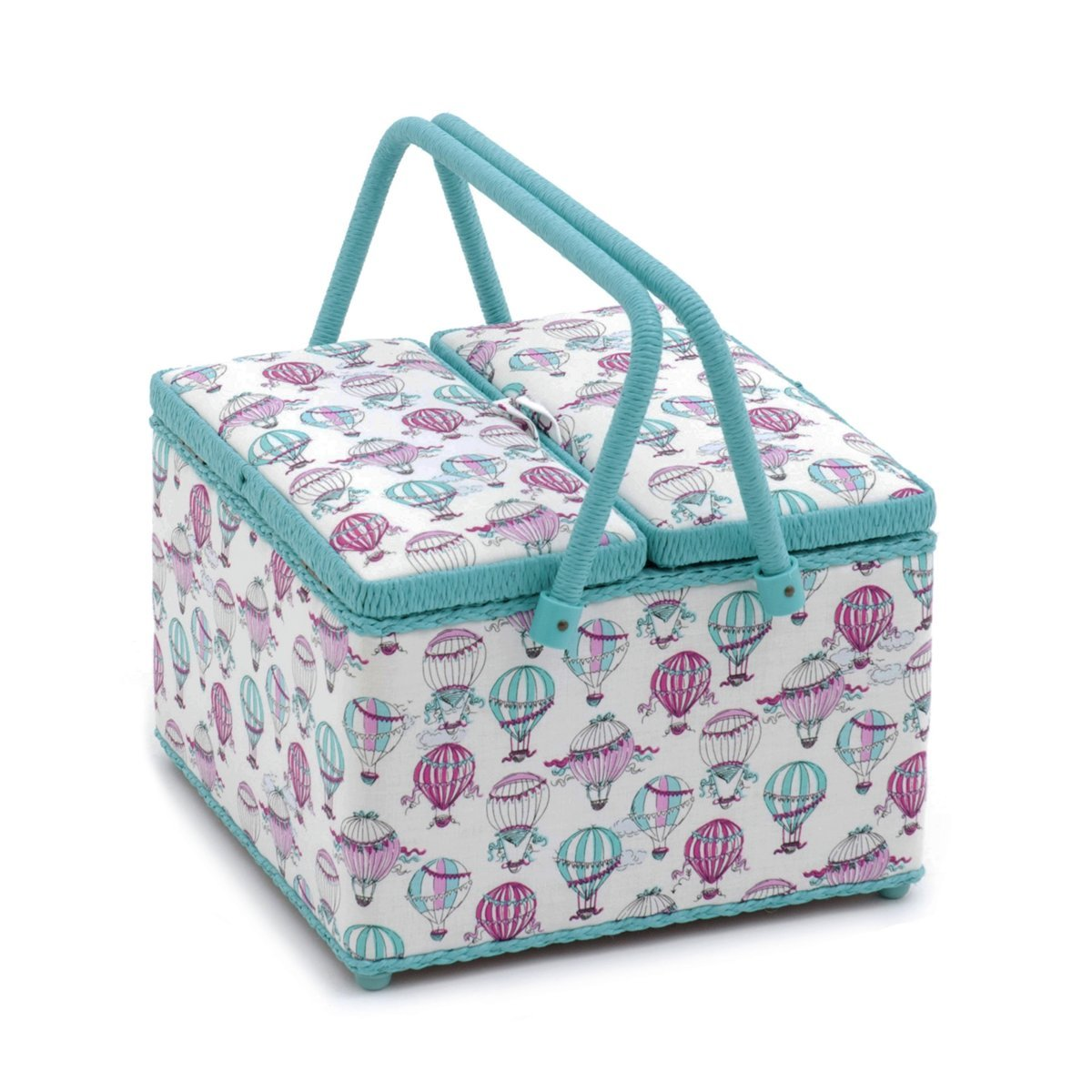 Hobby Gift Cest La Vie Twin Lid Square Sewing Box 26 x 26 x 18cm d//w//h
