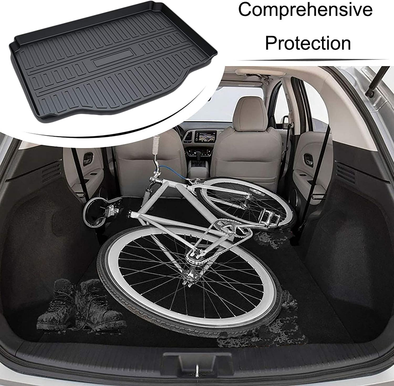 CARORMOKE Cargo Liner Trunk Mat Cargo Tray Black All Weather Protector Compatible with 2014-2021 Chevrllet Trax 2013-2021 Buick Encore