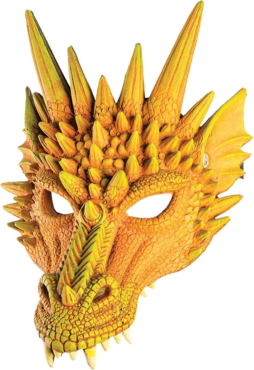Forum Novelties Unisex Dragon Half Mask Accessory Green One Size 79488