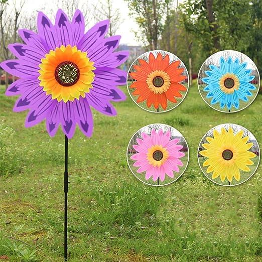 Molinillo de viento grande de doble capa para girasol, de XTYaa, para decoración de jardín: Amazon.es: Hogar