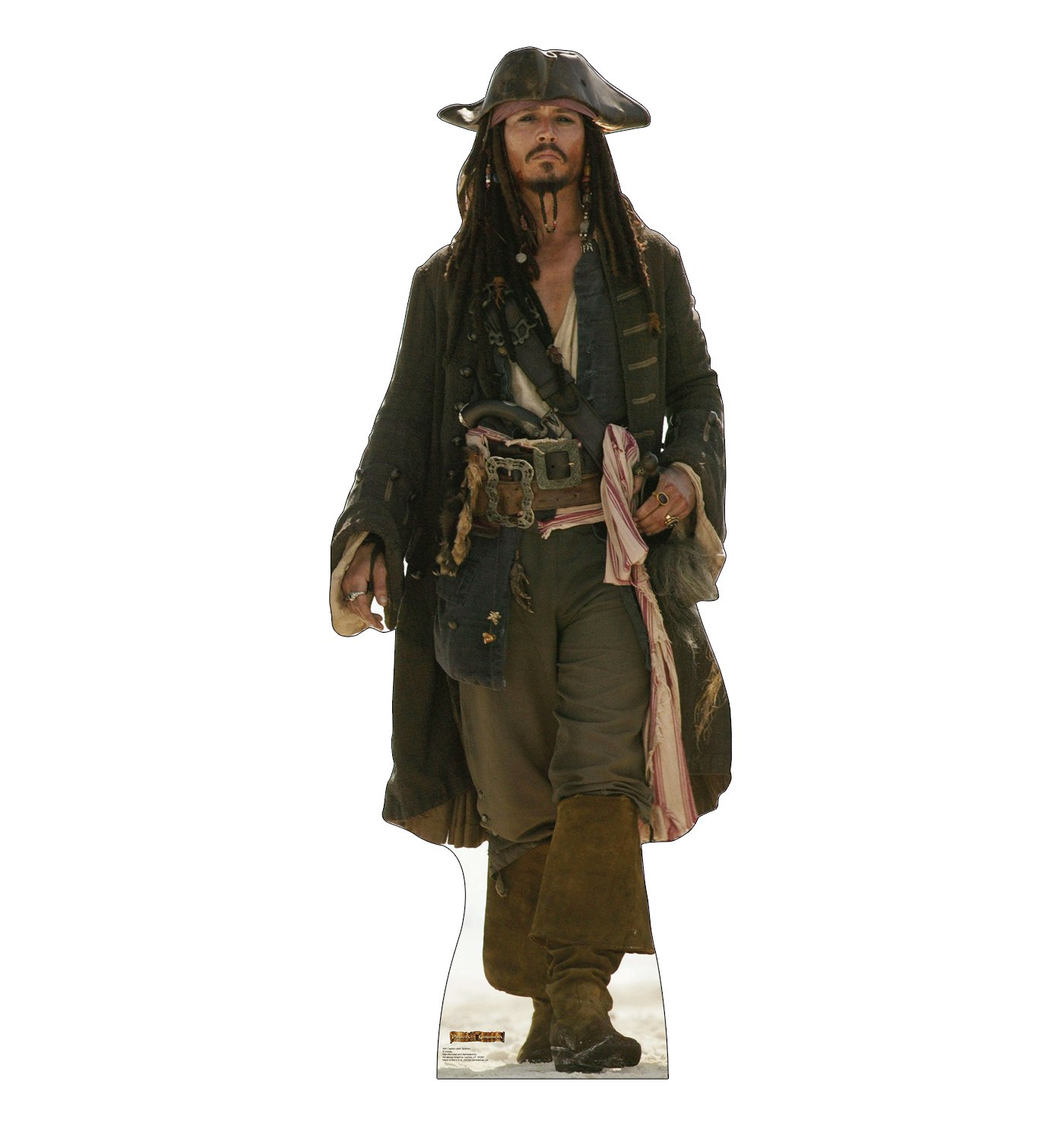 Advanced Graphics Captain Jack Sparrow Life Size Cardboard Cutout Standup - Disney's Pirates of the Caribbean