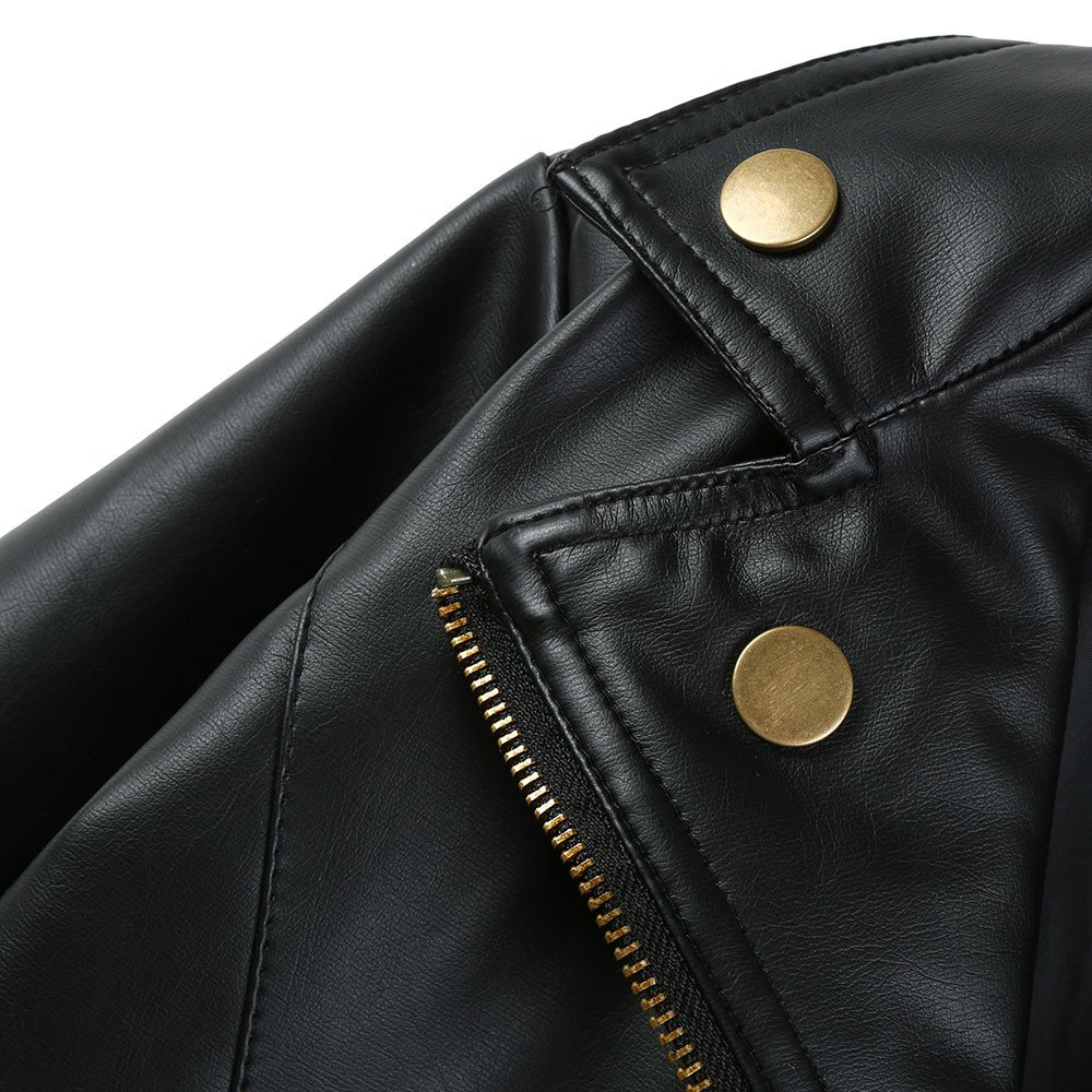 MSOO Faux Leather Solid Coat Jacket Christmas Autumn Outfits Gifts,Outwear Leather Coat Clothes