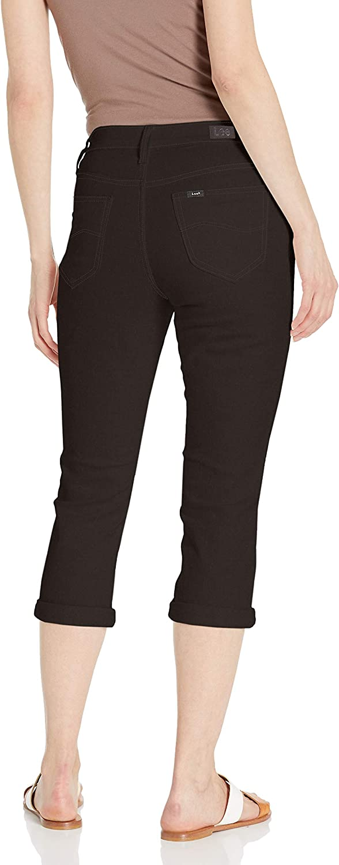 Lee Womens Flex Motion Regular Fit 5 Pocket Capri Jean