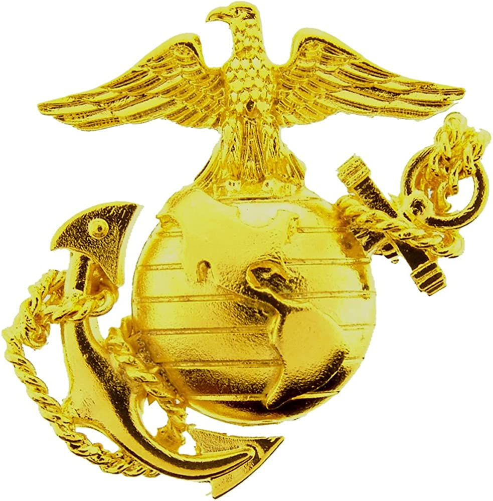 EE, Inc. United States Marine Corps Gold Colored Emblem Pin Military Gifts for Men Women