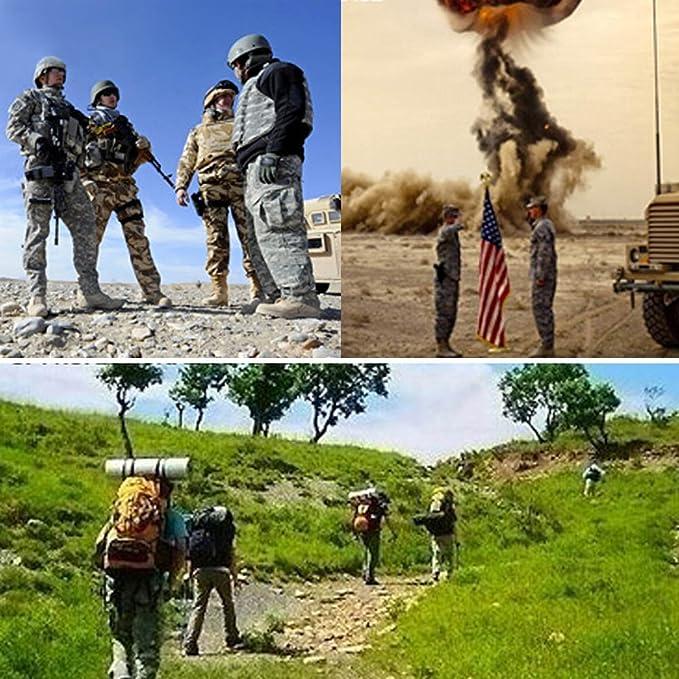 QWET Mens Gilet Militaire Tactique 800D Oxford Gilet en Tissu pour la Chasse en Plein air randonn/ée Jeu de Guerre Airsoft