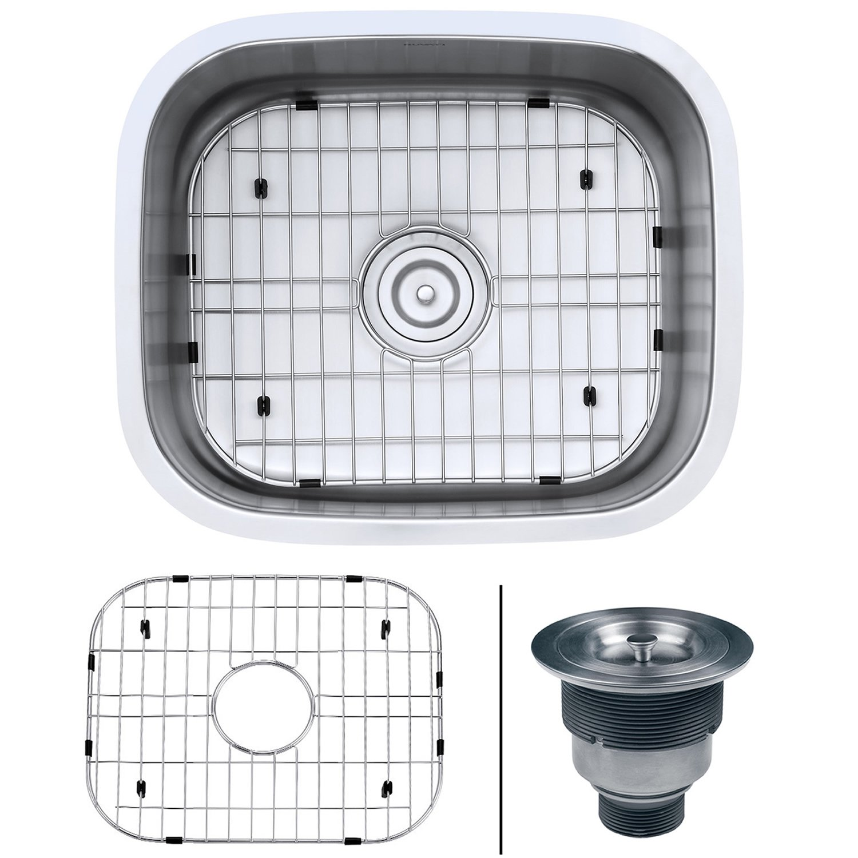 Ruvati 21 Inch Undermount 16 Gauge Stainless Steel Kitchen Sink Single Bowl    RVM4131