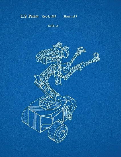 Amazon.com: Short Circuit Movie Number 5 Robot Patent Print Art ...