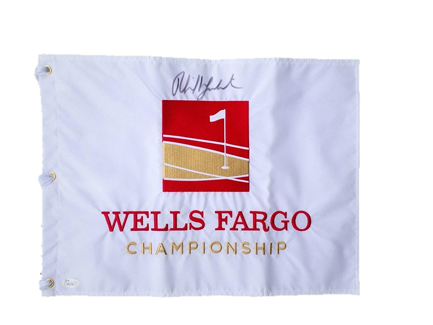 phil mickelson official signed wells fargo championship pin flag