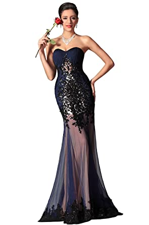 eDressit 2014 New Navy Blue Sweetheart Sequin Evening Dress Prom Gown (02147605)