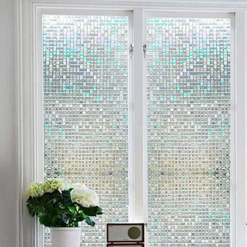 senza colla pellicola per la privacy vetro colorato in vinile pellicola statica adesiva 45 x 100 cm per finestra pellicola decorativa 3D per finestra Komanic