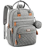 Diaper Bag Backpack, BabbleRoo Baby Nappy Changing Bags Multifunction Waterproof Travel Back Pack with Changing Pad…
