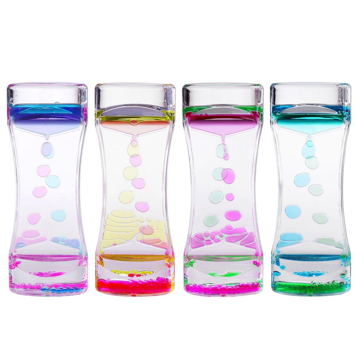 mesa de luz materiales - reloj de arena liquido