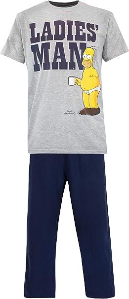 The Simpsons Pijama Para Hombre Homer Simpson Multicolor Size X Large Amazon Es Ropa Y Accesorios