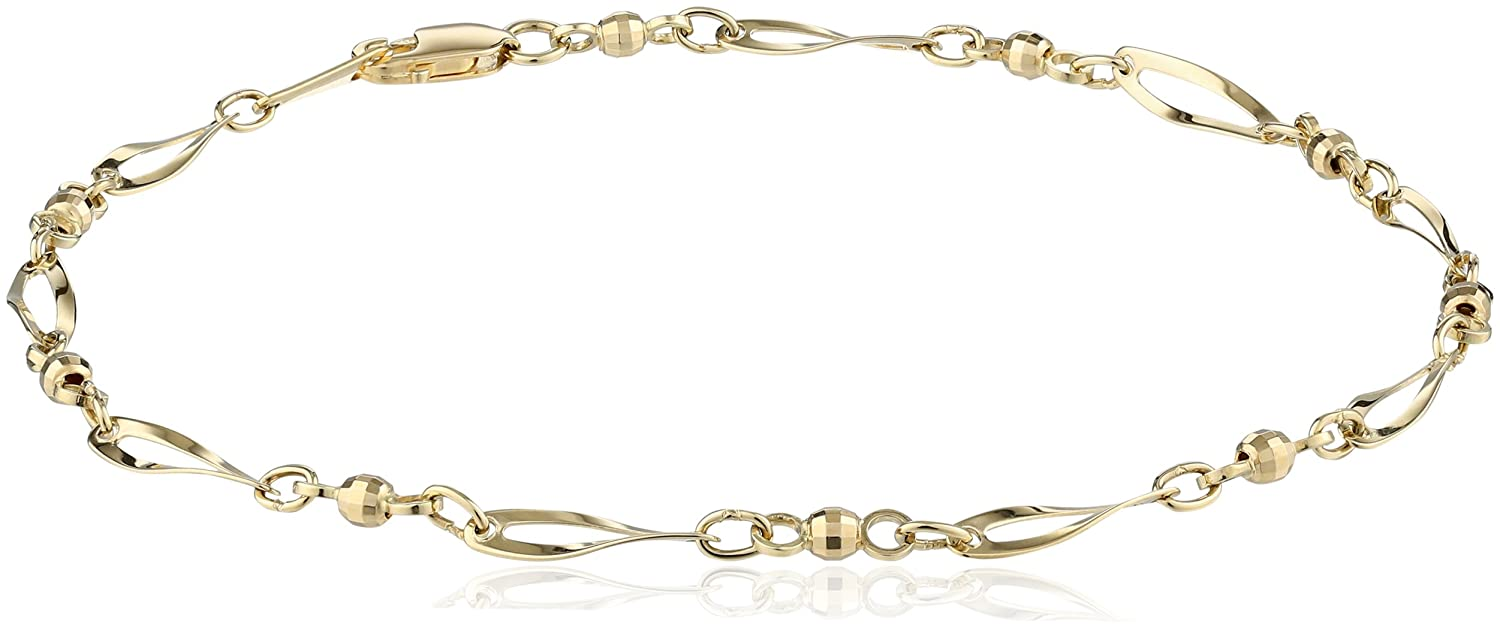 diamond by anklets station anklet gold the chain white jewelry bow black co inch collections in rolo