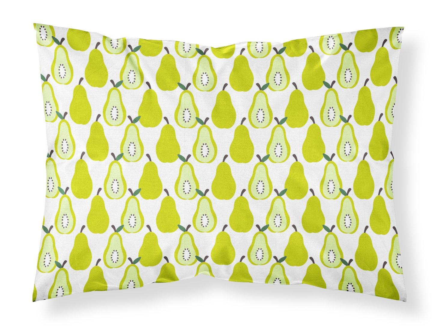 Carolines Treasures Watermelon on Lime Green Pillowcase Standard Multicolor