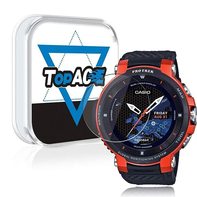 Topace - Protector de pantalla para reloj inteligente Casio WSD ...