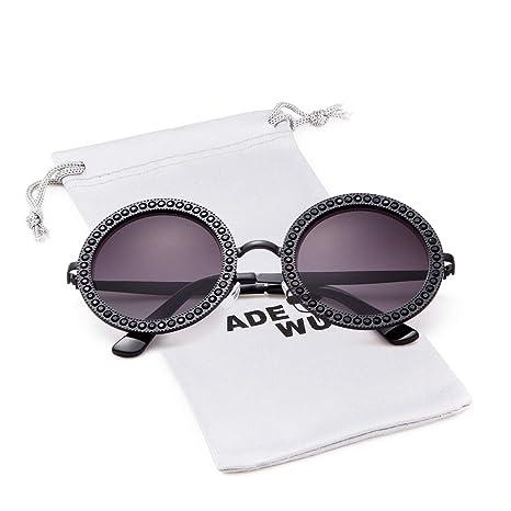 Amazon.com: Gafas de sol redondas con cristales de estrás ...