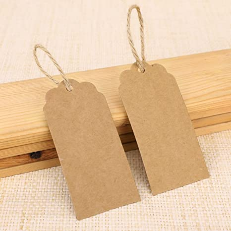 100 etiquetas colgantes de regalo de 4 x 9 cm con 10 m de cuerda de yute para bodas Anladia regalos para manualidades color marr/ón 9 x 4 cm etiquetas de precio
