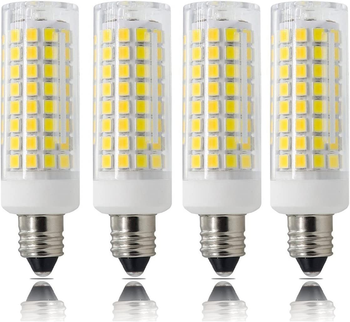 JD T3//T4 360 Degree Beam Angle for Indoor Decorative Lighting 850 LM Daylight White 6000K 2-Pack E11 Led Bulbs 75W-100W Equivalent 8w Dimmable E11 Mini Candelabra Base