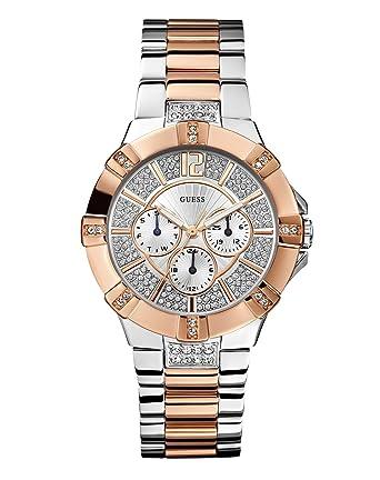 7fd71f1e8d7 Guess - W0024L1 - Vista - Montre Femme - Quartz Analogique - Cadran Argent  - Bracelet