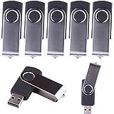 LHN® (Bulk 5 Pack) 8GB Swivel USB Flash Drive USB 2.0 Memory Stick (Black)