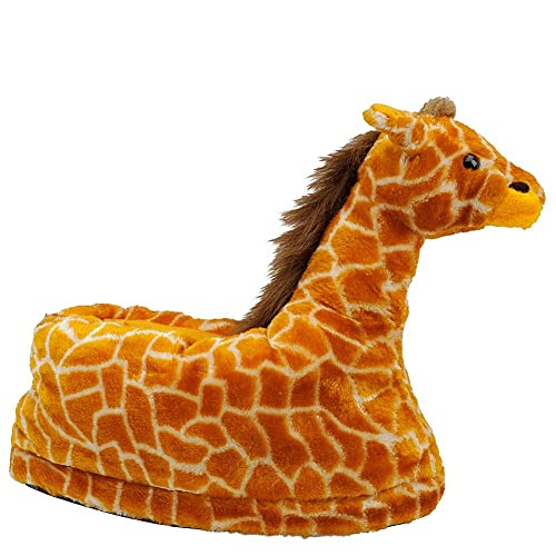 Women s Animal Indoor Giraffe Adult Plush Slippers - Cool Critters - Large  (8-10)  Amazon.ca  Shoes   Handbags 29832148f