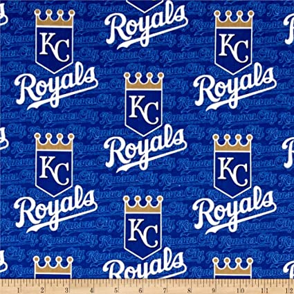 """KANSAS CITY ROYALS  NFL  60/"""" Cotton Fabric BTY Fabric Traditions N"""