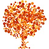 Rustark 650Pcs Resin Buttons Favorite Findings Basic Buttons 2 and 4 Holes Craft Buttons for Arts, DIY Crafts, Decoration, Sewing - Sizes Range from 0.28 to 1.18 Inch (Orange)