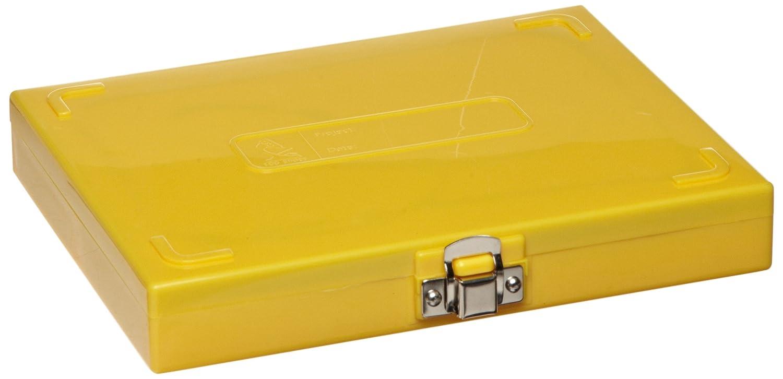 revestimiento interior de corcho, capacidad: 100 portaobjetos, longitud x anchura x altura: 208 mm x 175 mm x 34 mm color amarillo Heathrow Scientific HD15994D Caja para portaobjetos