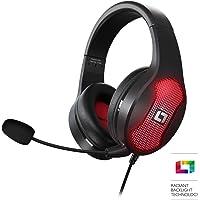 Lioncast LX30 Gaming Headset für PC, PS4, Xbox One, Nintendo Switch, Mac, Laptop, Smartphone (Stereo und 7.1 Virtual Surround Sound, RGB-LED-Beleuchtung, geschlossene Over-Ear Kopfhörer, USB) schwarz