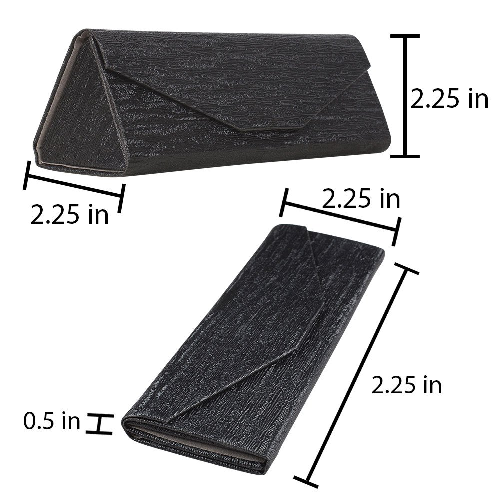 170b486536 Amazon.com  OptiPlix Formal Foldable Eyeglass Case