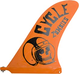 8b32501878 Captain Fin Co. Cycle Zombies Crash Helmet 10 Surfboard Fin, Orange by Captain  Fin