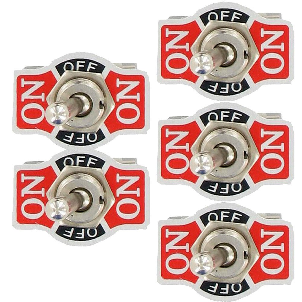 Momentary Rocker Toggle Switch Flick Metal Etopars 5 X Heavy Duty 20A 125V 15A 250V SPDT 3 Terminal Pin ON ON //OFF//