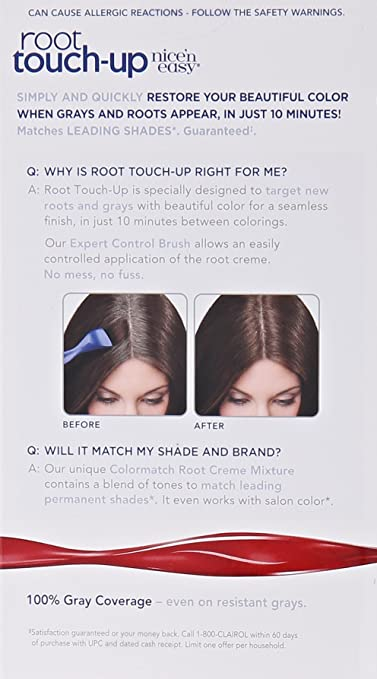 Amazon.com: Clairol Nice \'n Easy Root Touch-Up 4 Matches Dark ...