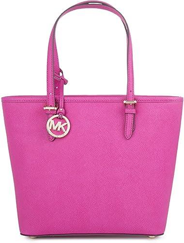 02ea4c22ec76bf Michael Kors Medium Jet Set Top-zip Snap Pocket Tote Bag, Raspberry:  Handbags: Amazon.com