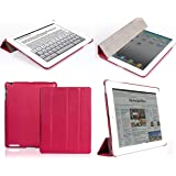 "Invision® iPad 2 3 & 4 Smart Case Cover - Front and Back Protection With Magnetic Auto Wake/Sleep Function - Superior Design Features - Premium Quality PU Leather With Microfiber Inner Lining - Independently Recommended by ""Which?"" Magazine (iPad 2 3 4 Cover Hot Pink)"